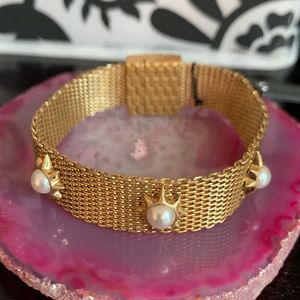 Mesh and Pearl Bracelet